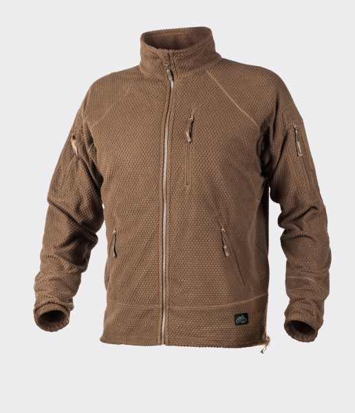 Alpha Tactical Jacket - Grid Fleece - Coyote