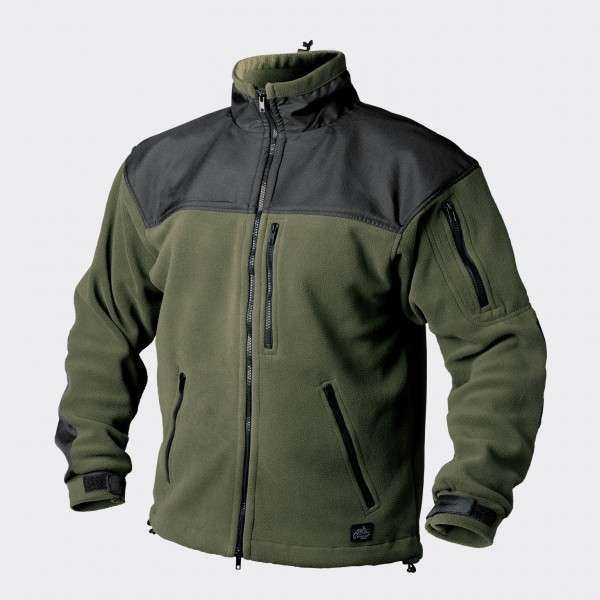 Classic Army Jacket - Fleece - Olive Green/Black