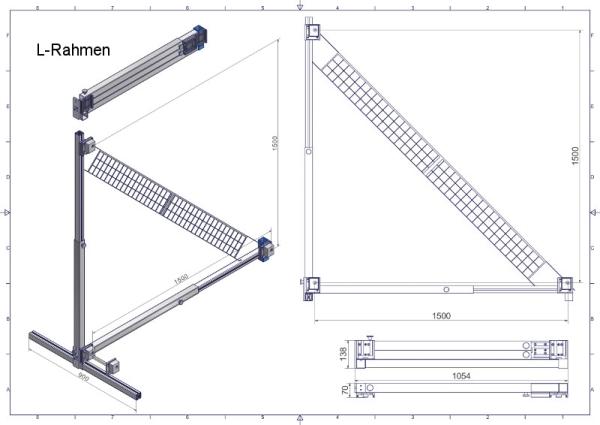 L- Rahmen - Scheibenhalter eTarget Aluminium