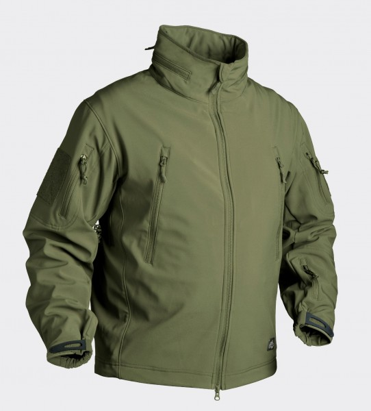 Gunfighter Jacke - Shark Skin Windblocker - Olive Green